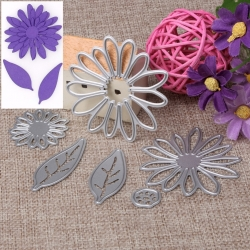 Printable Heaven dies - Gerbera & leaf set (6pcs)