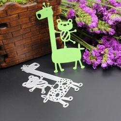 Printable Heaven die - Giraffe with Bear (1pc)