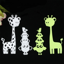 Printable Heaven dies - Giraffe & Owls (2pcs)