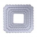 Printable Heaven dies - Nesting Scalloped Squares (5pcs)