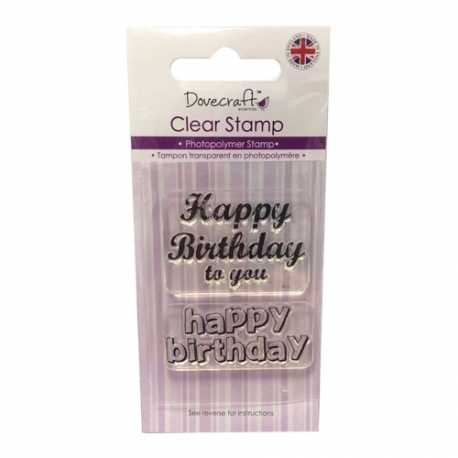 Dovecraft Clear Stamp - Happy Birthday (DCCS040)
