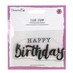 Dovecraft A7 Clear Stamp - Large Happy Birthday (DCSTP106)