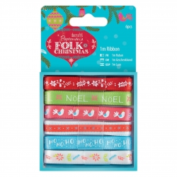 1m Ribbon (6pcs) - Folk Christmas (PMA 367908)