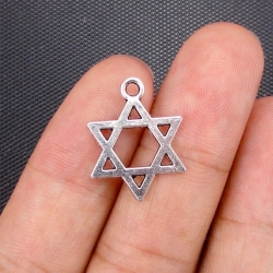 Metal Charms - Star of David (6)