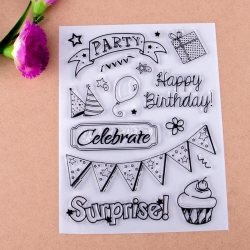Clear Stamp set - Birthday (17pcs)