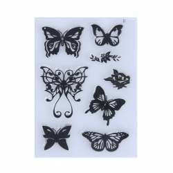 Clear Stamp set - Butterflies 2 (8pcs)