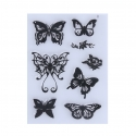 Clear Stamp set - Butterflies 2 (8pcs)