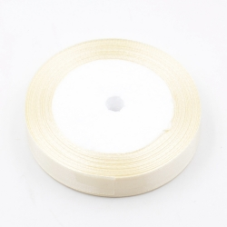 6mm Satin Ribbon - Cream (25 yards)