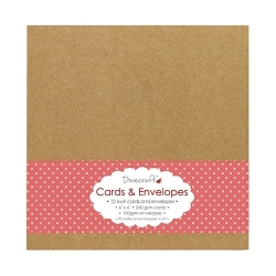 Dovecraft Kraft 6 x 6 cards and envelopes (DCCE024)