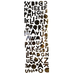 Simply Creative Metallic Alphabet Stickers (SC057)