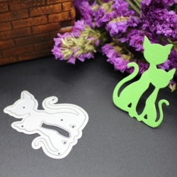 Printable Heaven die - Two Cats (1pc)