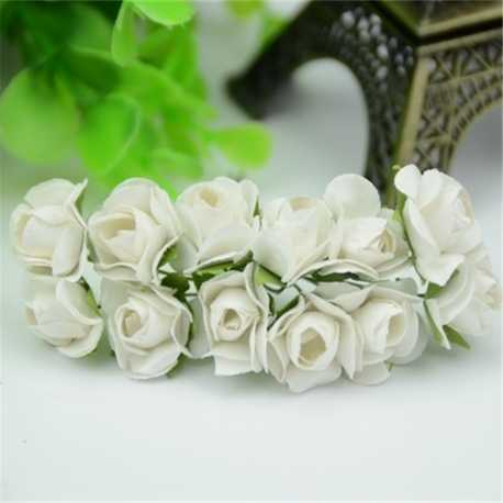 Paper Roses - White (Bunch of 12)