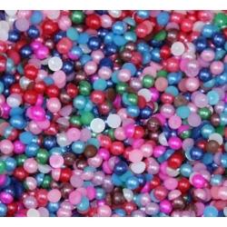 4mm Half-pearls - Multi (500 pack)