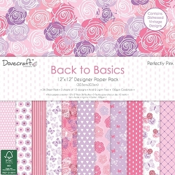 Dovecraft Back to Basics Perfectly Pink - 12 x 12 Paper pack (DCPAP061)