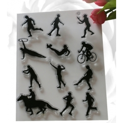 Clear Stamp set - Sports Figures 1 (12pcs)