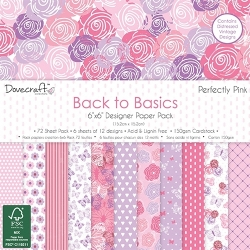 Dovecraft Back to Basics Perfectly Pink 6x6 Paper Pack (DCPAP063)