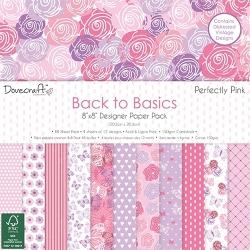 Dovecraft Back to Basics Perfectly Pink 8x8 Paper Pack (DCPAP062)