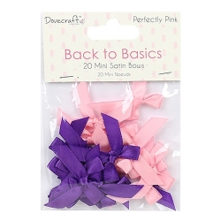 Dovecraft Back to Basics Perfectly Pink Mini Bows (DCRBN028)