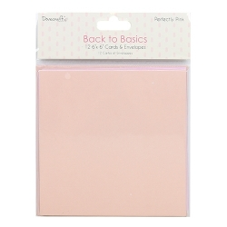 Dovecraft Back to Basics Perfectly Pink Cards and Envelopes (DCCAE039)