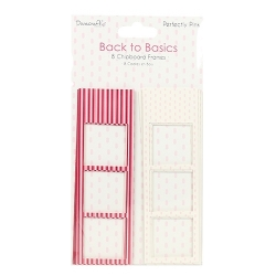 Dovecraft Back to Basics Perfectly Pink Photo Frames (DCPFR005)