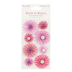 Dovecraft Back to Basics Perfectly Pink Accordion Stickers (DCTOP066)