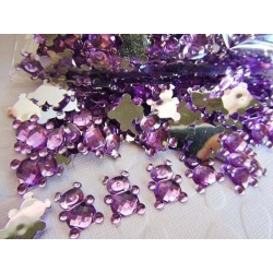 Teddy Gems - Lilac (50 pack)