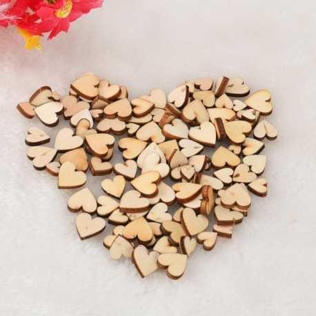 Mini Wooden Hearts (100pcs)