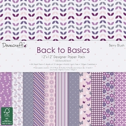 Dovecraft Back to Basics Berry Blush - 12x12 Paper Pack (DCPAP028)
