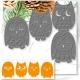 Printable Heaven dies - Groovy Owls set (4pcs)