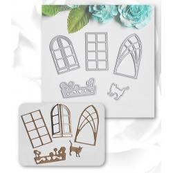 Printable Heaven dies - Cat & Window set (5pcs)
