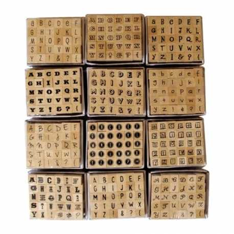 Lucky Dip Wooden Alphabet Stamps