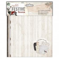 "6 x 6"" Cards & Envelopes (12pk) - Festive Fauna (PMA 150922)"