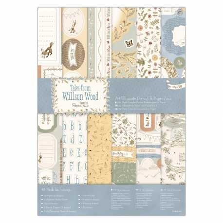 A4 Ultimate Die-cut & Paper Pack (48pk) - Tales from Willson Wood (PMA 160326)