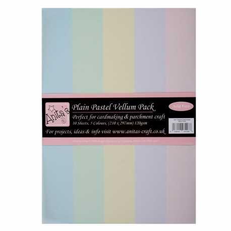 A4 Parchment Vellum (10pk) - Plain Pastels (ANT 1622002)