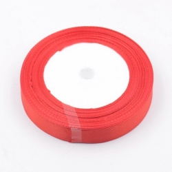 6mm Satin Ribbon - Red (25 yards)