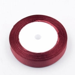 6mm Satin Ribbon - Burgundy (25 yards)