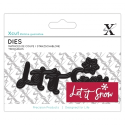 Mini Sentiment Die (4 pieces) - Let It Snow (XCU 504024)