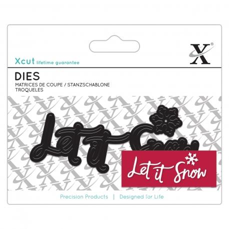 Mini Sentiment Die (4 pieces) - Let It Snow (XCU 504024)