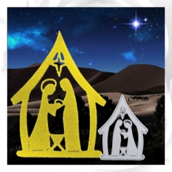 Printable Heaven die - Nativity (1pc)