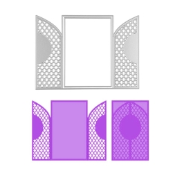 Printable Heaven dies - Lattice-front Wrap & Card (2pcs)