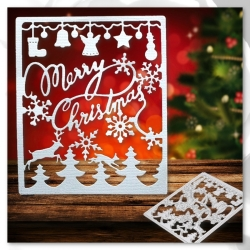 Printable Heaven dies - Merry Christmas panel (2pcs)