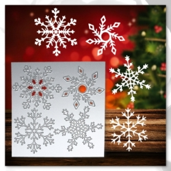 Printable Heaven die - Snowflake Square (1pc)