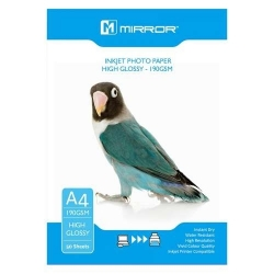Mirror 190gsm High Glossy Inkjet Photo Paper 50 sheets Economy Pack