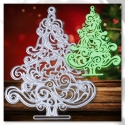 Printable Heaven die - Flourish Christmas Tree (1pc)