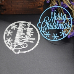 Printable Heaven die - Merry Christmas Circle (1pc)