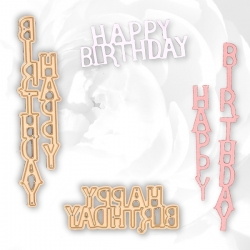 Printable Heaven dies - Happy Birthday Greetings (2pcs)