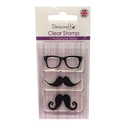 Dovecraft Clear Stamp - Moustache & Glasses (DCCS025)