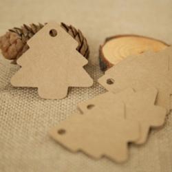 Christmas Tree Tags - Kraft (50pcs)