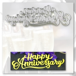 Printable Heaven die - Happy Anniversary (1pc)