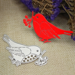 Printable Heaven die - Robin with Mistletoe (1pc)